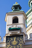 Goats fighting on the tower - symbol of Poznan, Poland