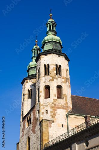 Papiers peints Cracovie Two towers of the church, Krakow, Poland