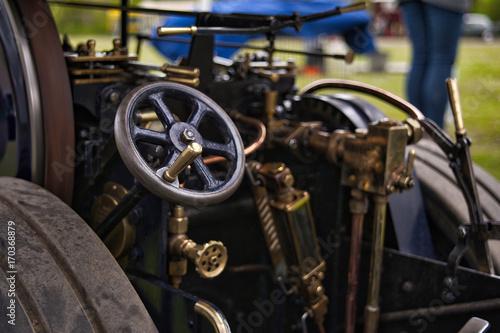 Fotobehang Fiets Steam vehicle