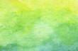 Leinwandbild Motiv Green abstract watercolor texture background.