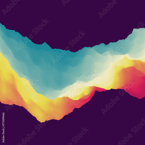 Fotobehang Abstractie 3D Abstract Background. Dynamic Effect. Futuristic Technology Style. Motion Vector Illustration.
