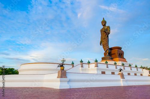 Foto op Canvas Boeddha important buddha statue park in nakorn pathom outskirt bangkok thailand