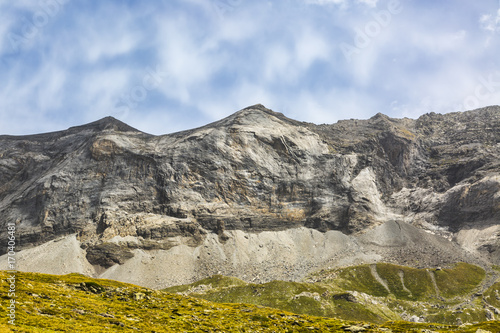 Foto op Plexiglas Blauwe hemel The Circus of Troumouse - Pyrenees Mountains