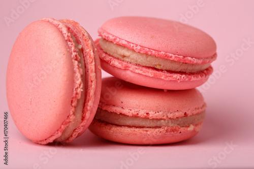 Foto op Aluminium Macarons Pink Macaroons