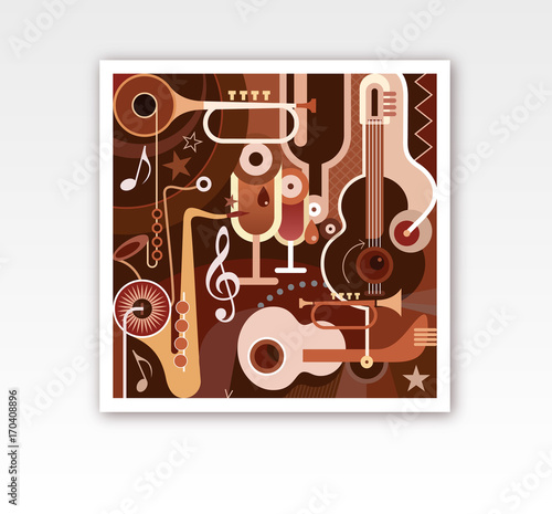 Fotobehang Abstractie Art Abstract Musical Composition