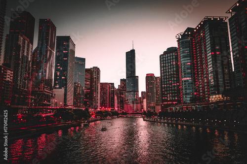 Fotobehang Chicago Chicago Skyline