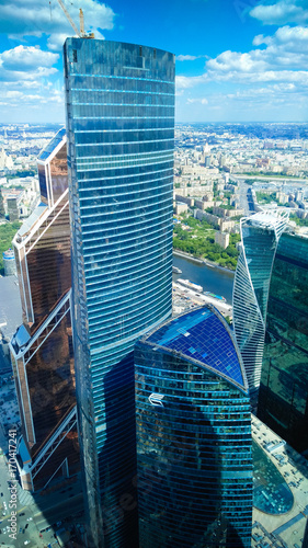 Fotobehang Moskou Moscow City panoramic views