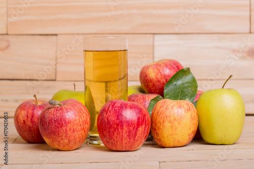 Fotobehang Sap apple juice
