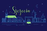 Panorama nocna miasta Szczecin - 170426016