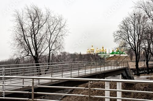 Fotobehang Kiev View of the Lavra Monastery in Kiev