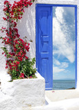 Traditional greek house on Santorini island, Greece