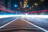 Traffic at night on a chinese urban highway, Chengdu, China - 170440814