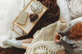 Lady holding mug - 170444693