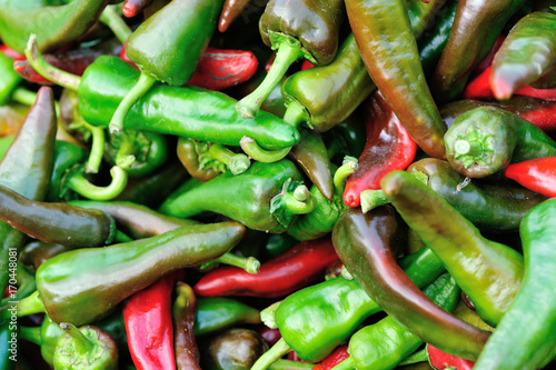 Papiers peints Hot chili Peppers fresh pepper selling at agriculture market