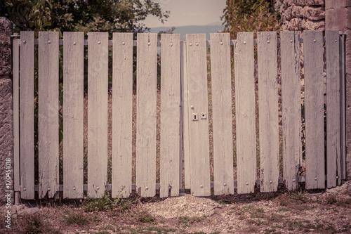 Aluminium Zomer Old Wooden gate