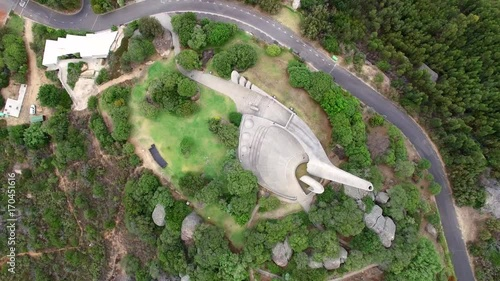 Aerial of Taal Monument in South Africa