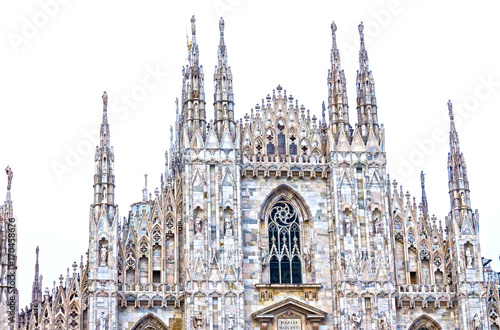 Fotobehang Milan The day view of Milan Cathedral or Duomo di Milano