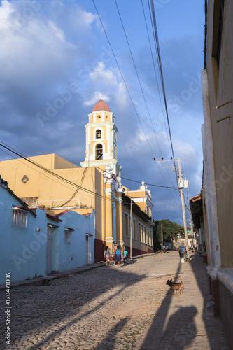 Foto op Canvas Havana Church in the colonial city of Trinidad 01, Cuba