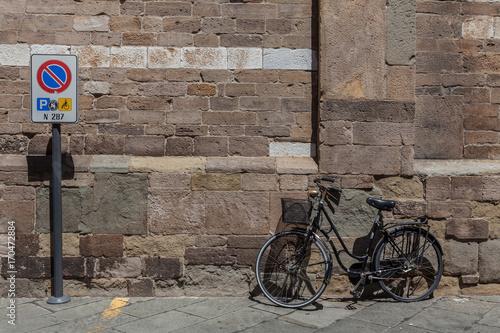 Fotobehang Fiets Italian Transport