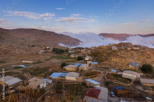Fotobehang Diepbruine The village of Gryz in Guba.Azerbaijan