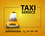 Fototapety Taxi service card