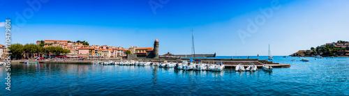 Papiers peints Photos panoramiques Panorama de Collioure la perle de la côte vermeille