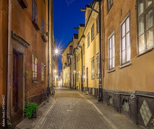 Papiers peints Ruelle etroite Prästgatan en en charmig gränd som går genom Gamla stan
