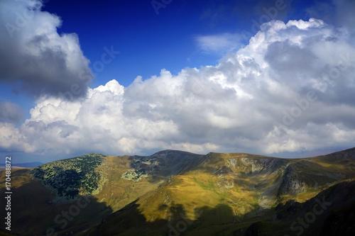 Fotobehang Donkergrijs Alpine landscape in the Carpathians, Romania, Europe