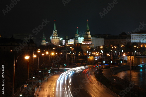 Papiers peints Moscou Moscow at night