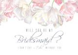 Tulip bridesmaid card pink
