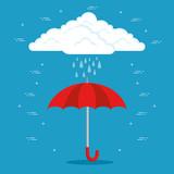 rainy weather forecast vector illustration graphic design - 170500232