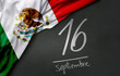 Mexican Independence Day. September, 16 (Written in Spanish)