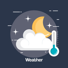 rainy weather status icon vector illustration design