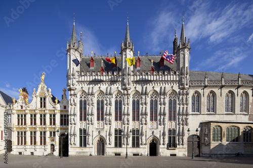 Deurstickers Brugge Town Hall Of Bruges