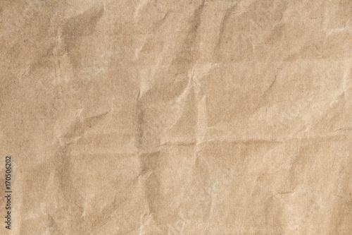 Przetwarza brown papierową zmiętą teksturę, Stara papierowa powierzchnia dla tła