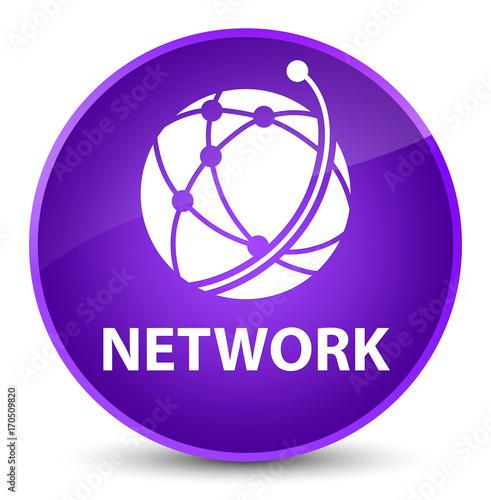 Network (global network icon) elegant purple round button - 170509820