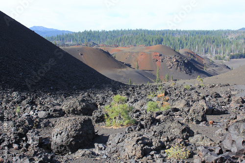 Papiers peints Taupe Volcanic foreground
