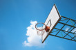 basketball ring against blue sky