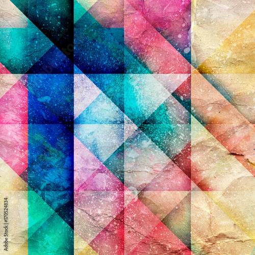 Poster Abstract bright geometric background