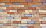 Background of modern brick wall texture.
