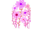 pink flower whimsical floral vector - 170540422