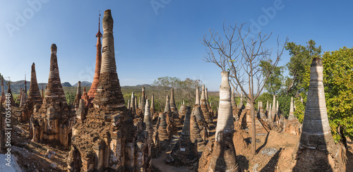 Aluminium Fyle Pagodas at Indein Village