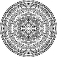 Figure mandala for coloring