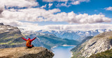 Amazing nature view on the way to Trolltunga. Location: Scandinavian Mountains, Norway, Stavanger. Artistic picture. Beauty world. The feeling of complete freedom - 170567066