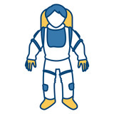 Cute astronaut cartoon icon vector illustration graphic design - 170577656