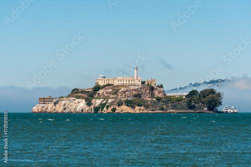 Poster Alcatraz Island view from the San Francisco Pier 39
