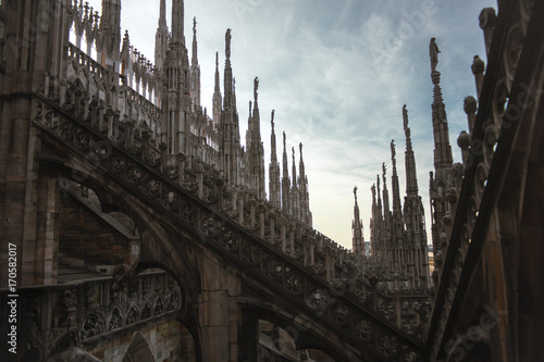 Foto op Canvas Milan cathedral