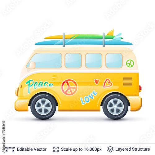 Fotobehang Auto Classic volkswagen bus.