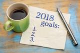 2018 year goals list on napkin - 170586830