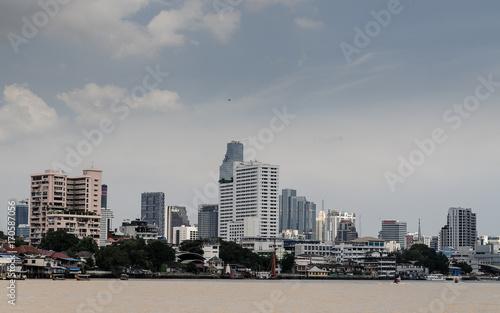 Fotobehang Bangkok Panorámica de la ciudad de Bangkok, desde el rio Chao Phraya en Tailandia